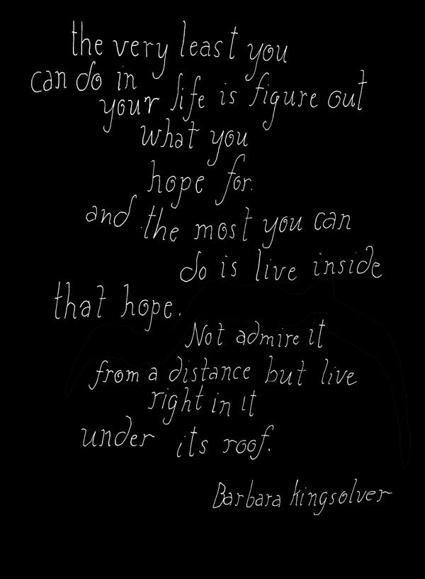 I'm almost sure that this is my all time favorite quote! ~Barbara Kingsolver via artist Lisa Congdon