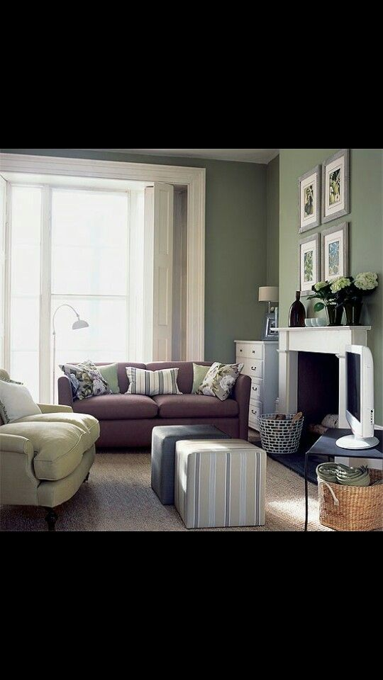 Green N Grey Hint Of Burgundy I Like It Purple Living Room