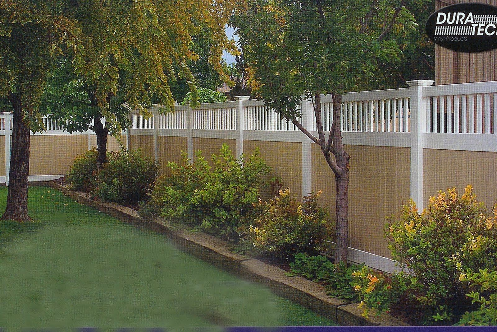 fence landscaping landscape - Garden Ideas Along Fence Line