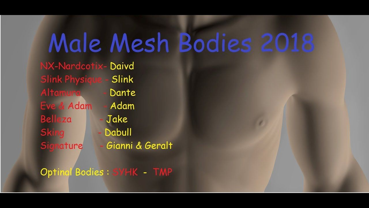 Ultimate Male Bodies in Second life for 2018 | Burner Videos
