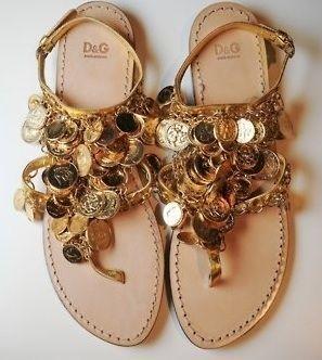903f3771075deb Dolce   Gabbana Coin Sandals
