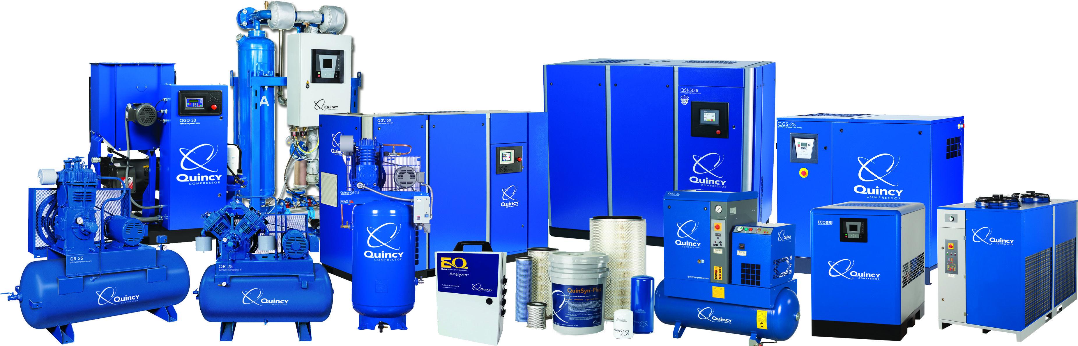 Quincy Compressor Product Portfolio Locker storage