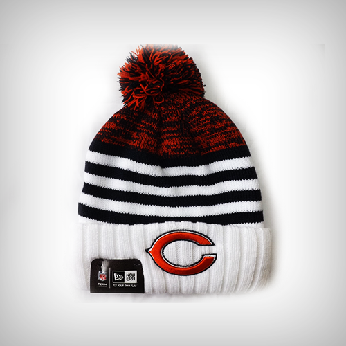 19d7cc3d Chicago Bears Snowfall Stripe Pom Knit Cap by New Era   Sports World  Chicago $19.95