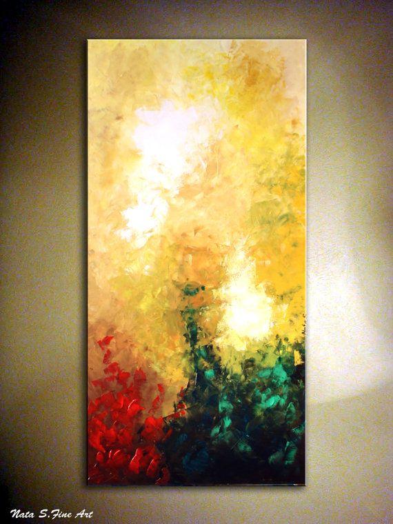 Original Modern Abstract Large Art Painting.Impasto.Palette Knife 48 ...