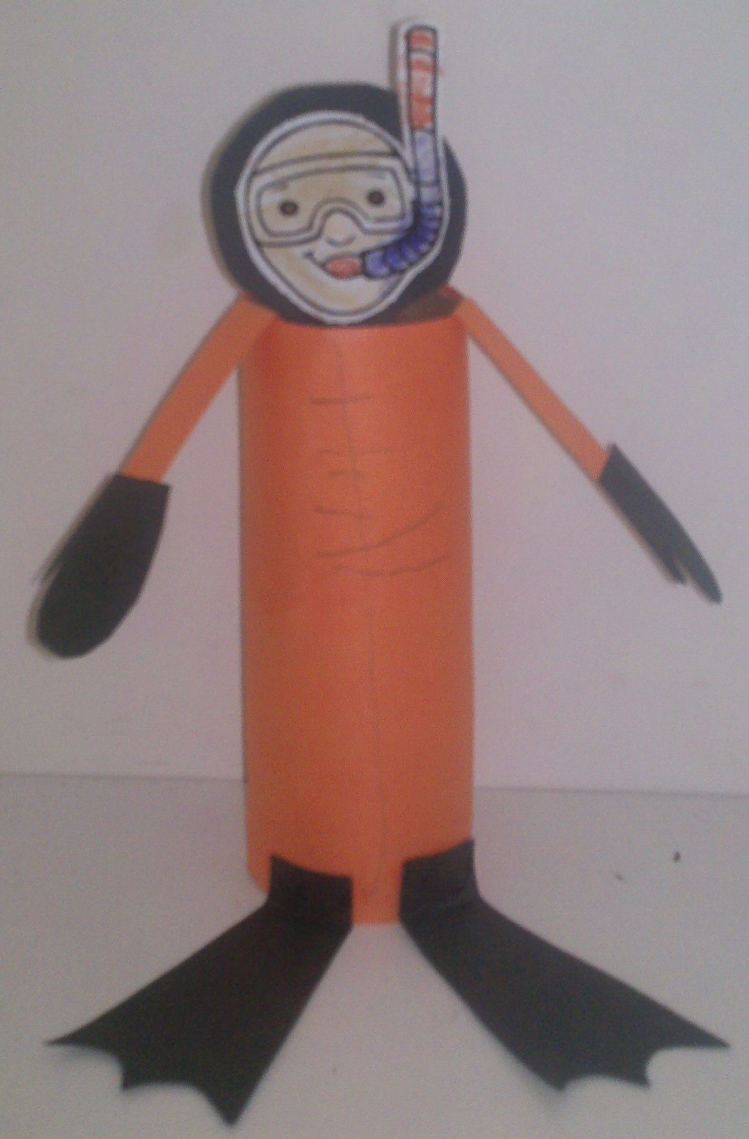 The Kids Made A Scuba Diver They Used Paper Tubes To Form