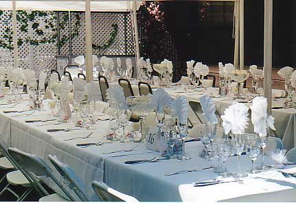 Share your buffet-style tablescapes : wedding reception decor ...