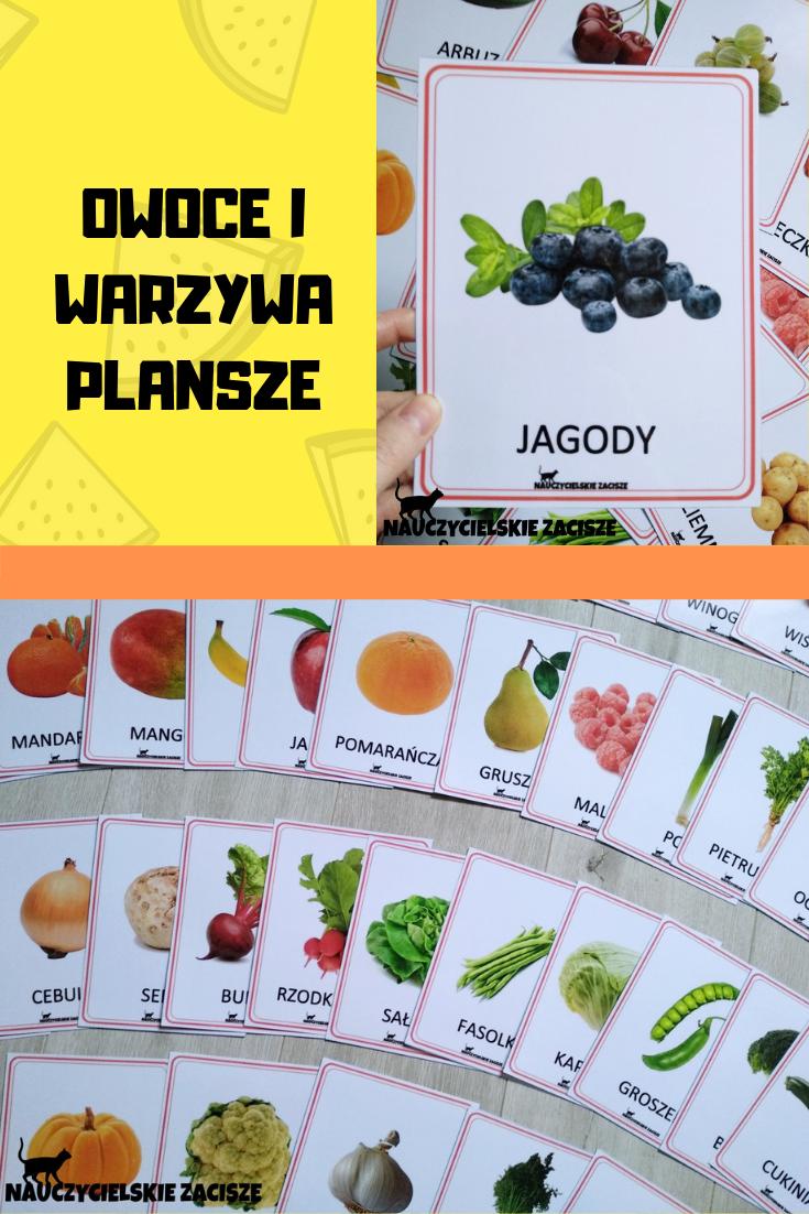 Owoce I Warzywa 40 Ilustracji Plansze Edukacyjne Interactive Notebooks Lapbook Interactive
