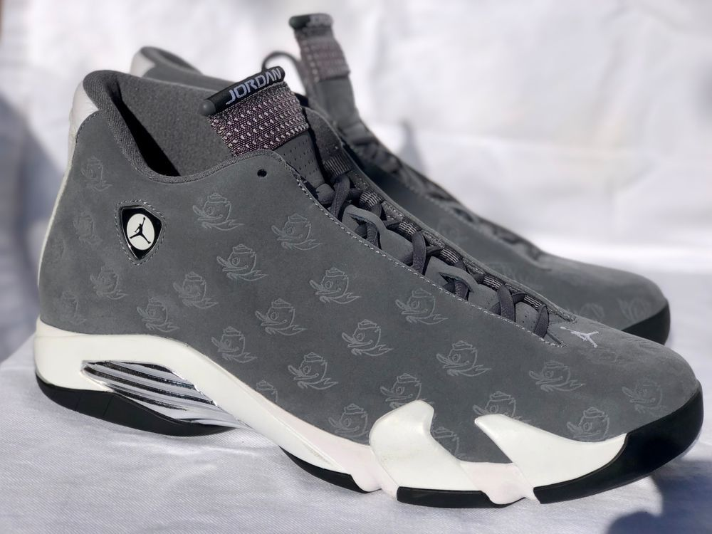 c47a27e9fdef37 Nike Air Jordan Retro 14 Oregon Ducks PE Rose Bowl  fashion  clothing   shoes  accessories  mensshoes  athleticshoes (ebay link)
