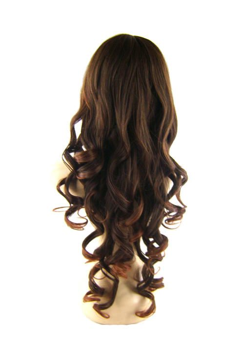 Natural Color Synthetic Curly Bra Length Wig With Bangs Code 1139