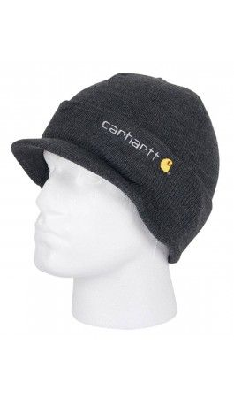 Carhartt - Winter Hat with Visor - Grey - from Dungarees-online.  carhartt 8b1b8deaa39