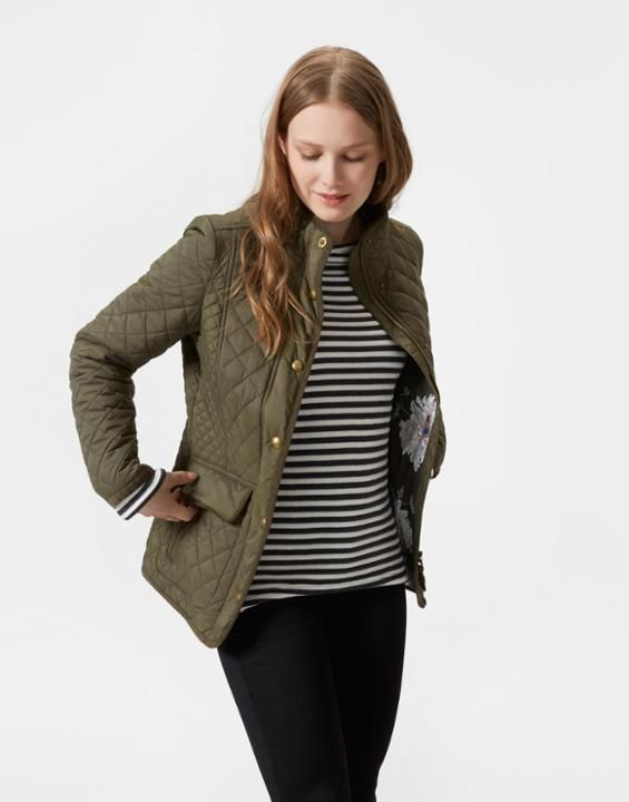 NEWDALE Quilted Jacket | Style | Pinterest | Quilted jacket ... : joules green quilted jacket - Adamdwight.com