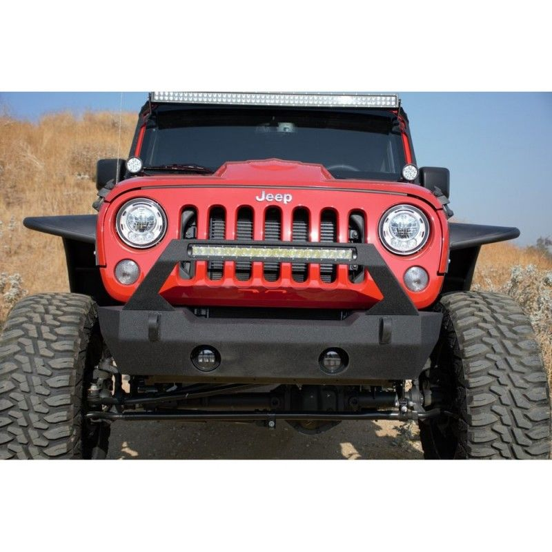 DV8 FS25 Stubby Front Bumper with Winch Plate & Fog Light