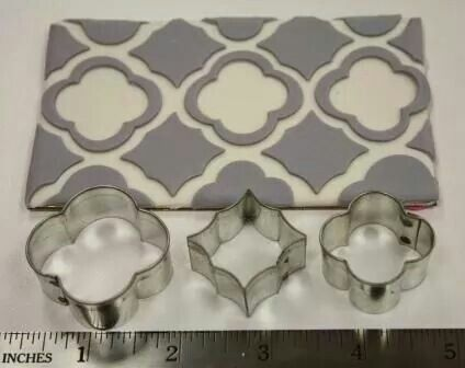 Morocco style pattern using cookie cutters