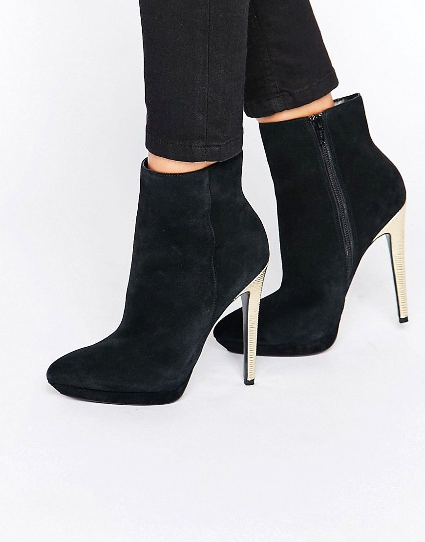 Faith / Suede High Ankle Boots / Black