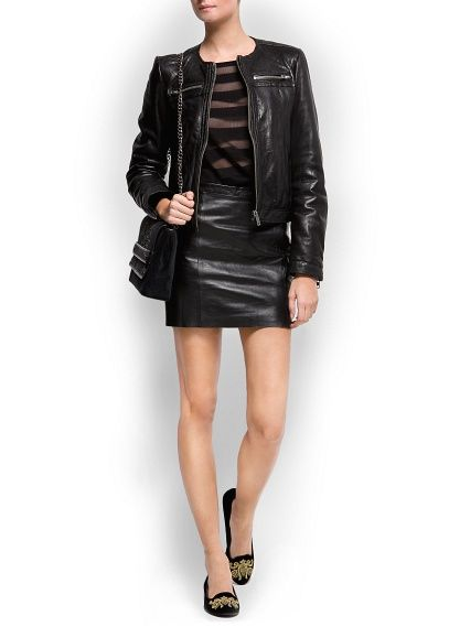 love this outfit with the velvet Gala Gonzalez loafers by Mango Touch