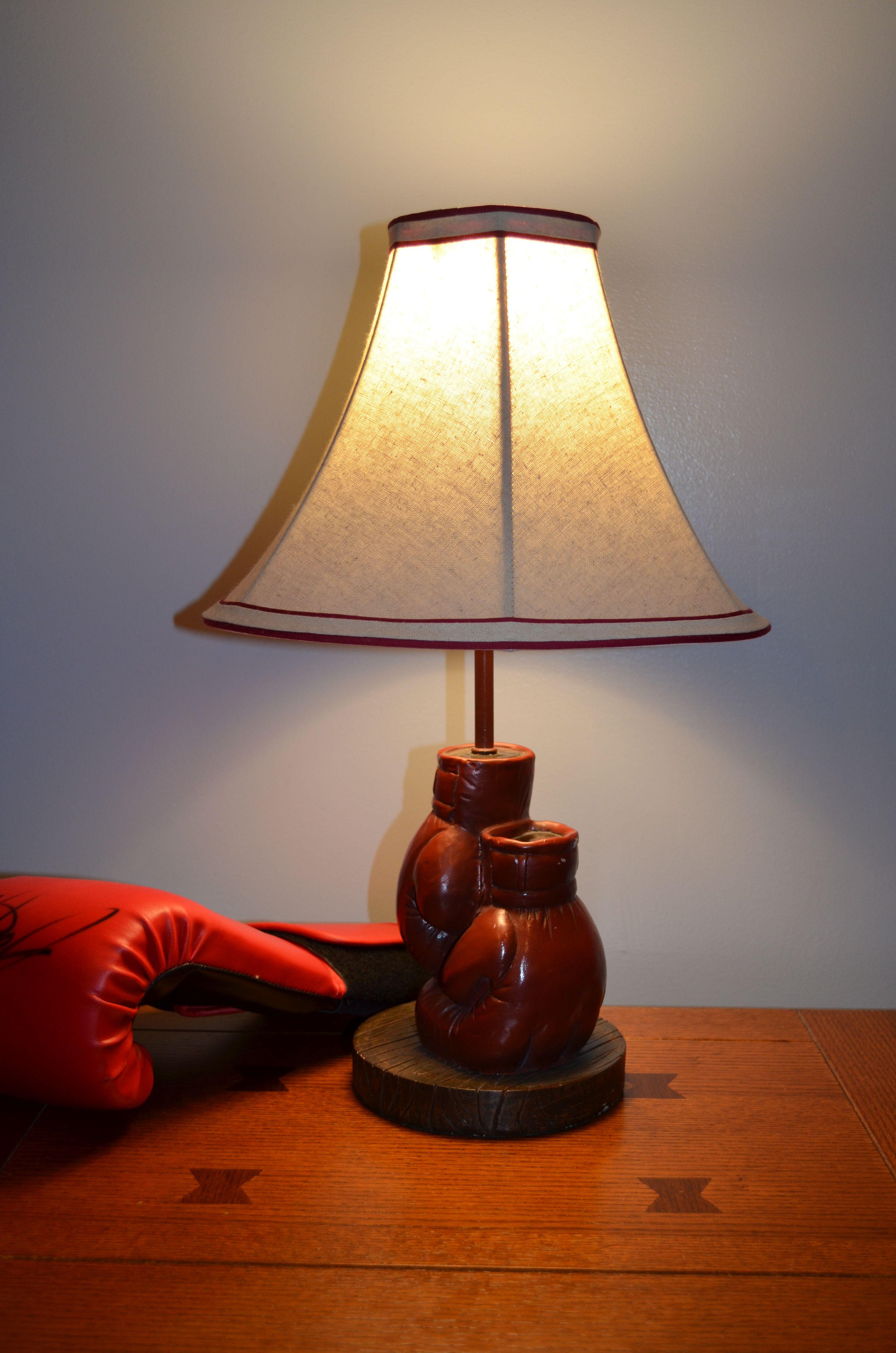 Resin Boxing Glove Lamp
