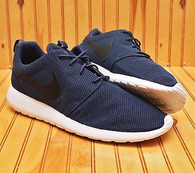 premium selection 8f848 ef4bb Nike Roshe Run One Size 17 - Midnight Navy White Black - Rosherun - 511881  405