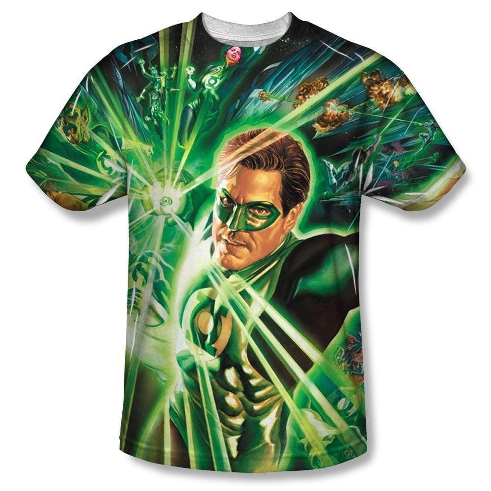 Green Lantern - Lantern Burst Adult All Over Print 100% Poly T-Shirt