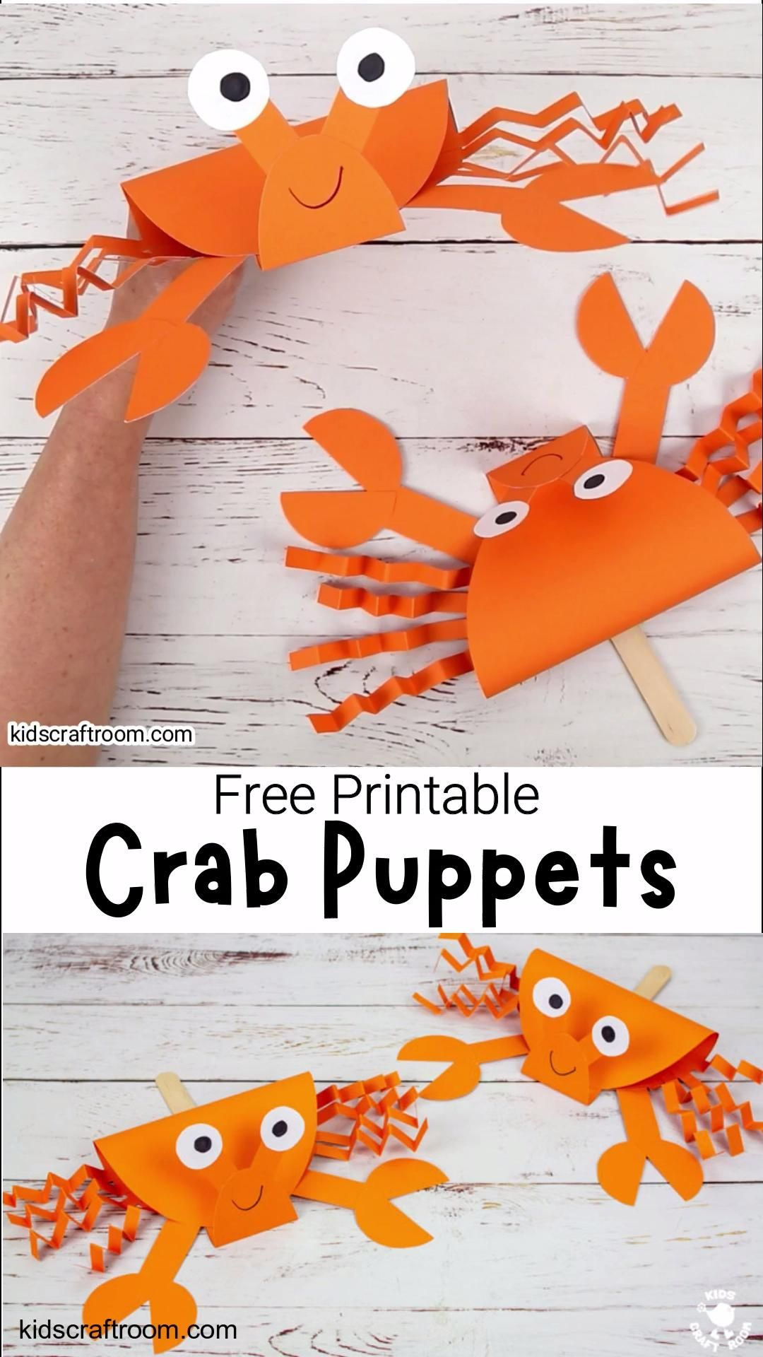 Photo of Printable Crab Puppet Craft For Kids