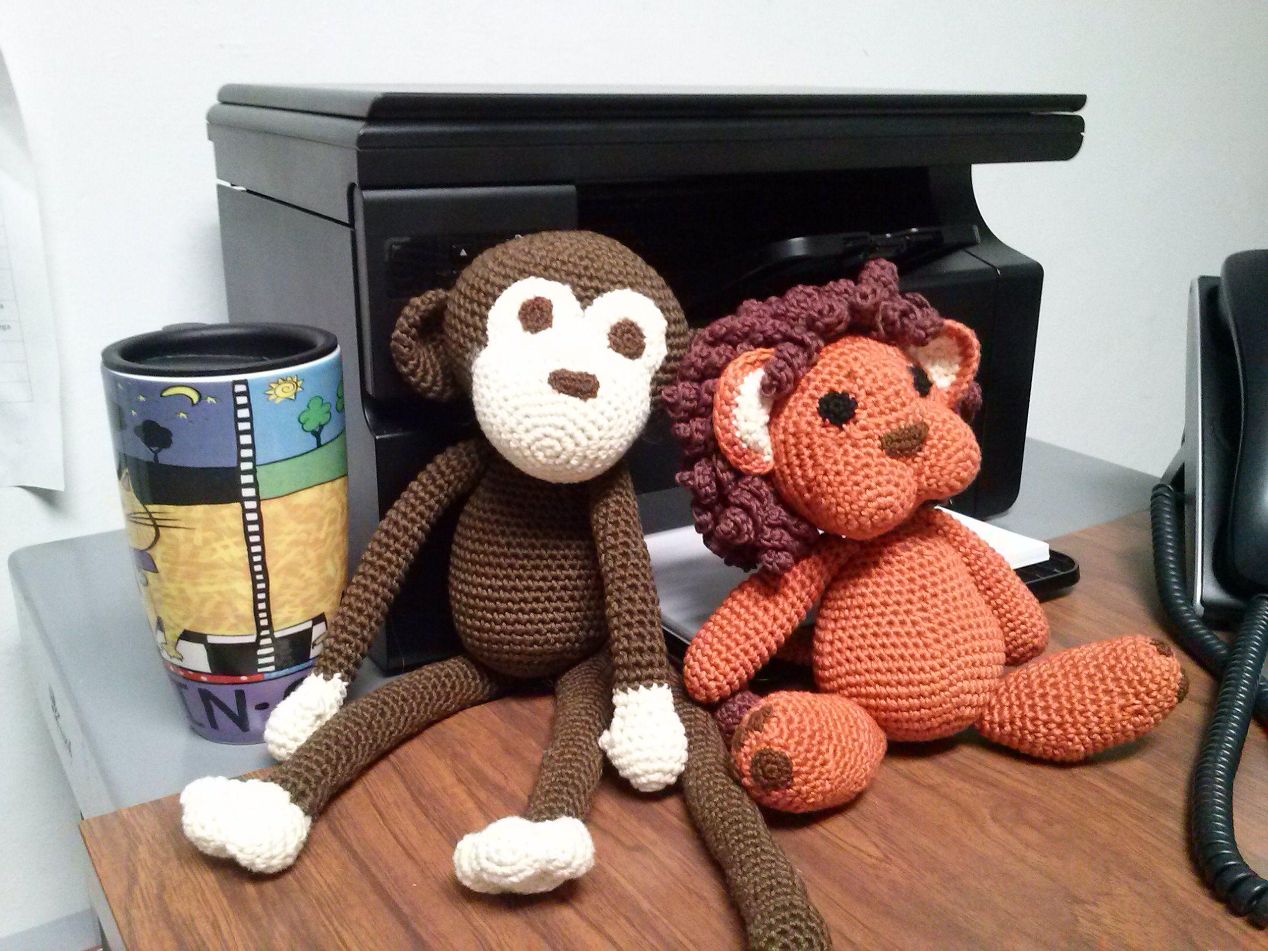 León Amigurumi Tutorial : Monito y león. tejidos en hilo de algodón crochet. violeta navarro