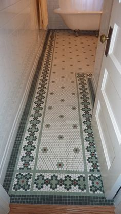 Image Result For Vintage Hex Bathroom Trendy Bathroom Tiles Patterned Floor Tiles Kitchen Flooring