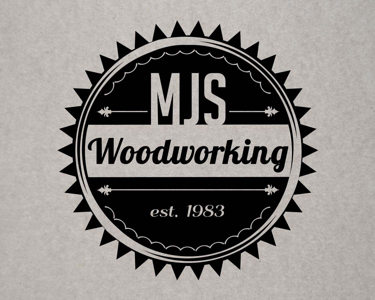 Vintage Styled The Text Could Be Hard To Read At Small Sized Though Logos Woodworking Logo