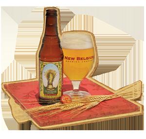 New Belgium Sunshine Wheat (4.8% ABV, 145 calories)