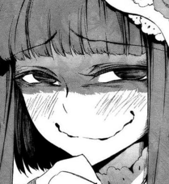 Yuzuki, girl who have that creepy smile. When she's