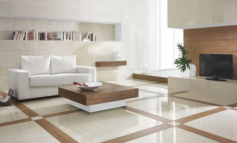 Mixing Marble Wood Elements Marmol Living Room Tiles Design