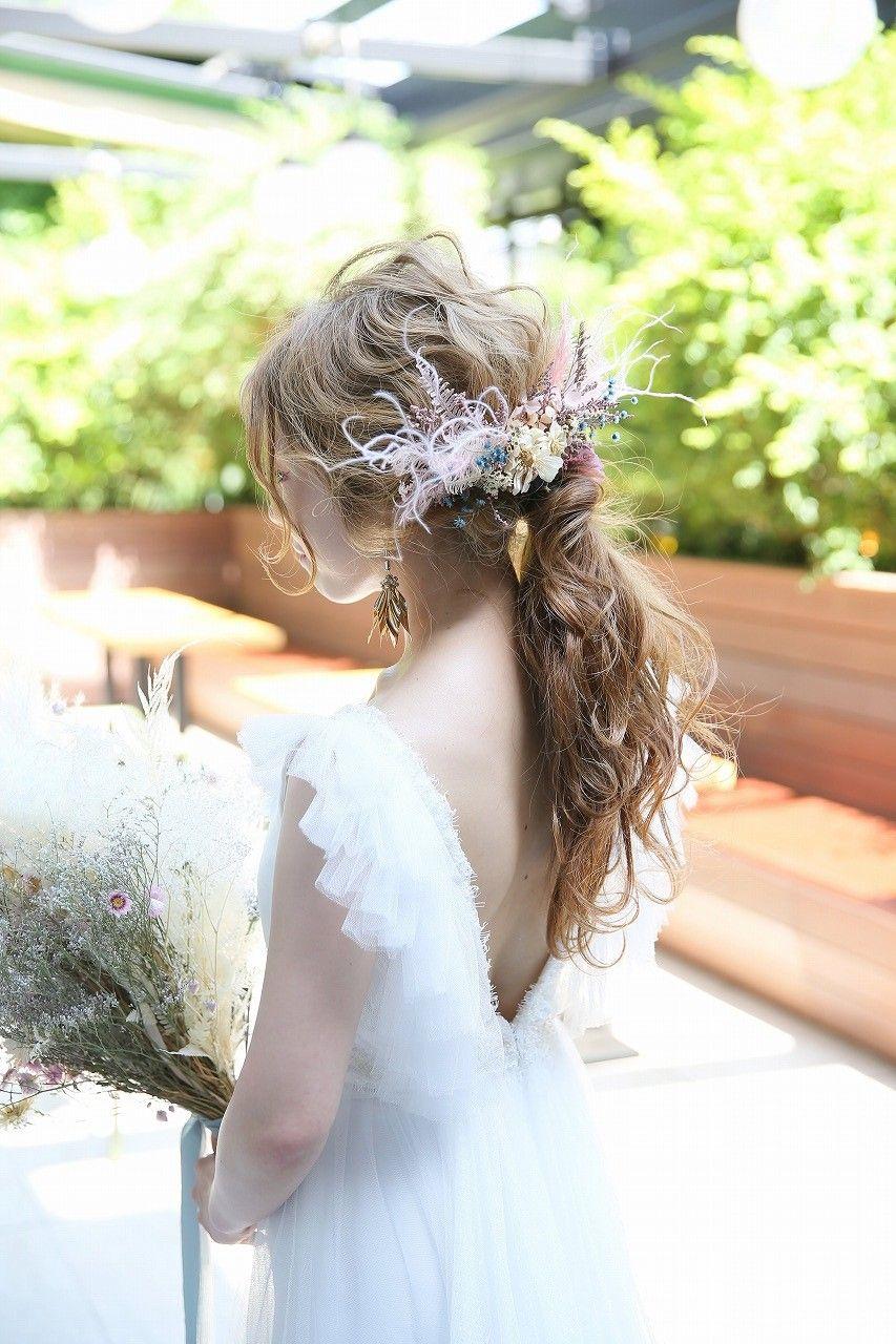おしゃれ花嫁なら断然ポニーテール 今流行りの結婚式髪型を一挙にご