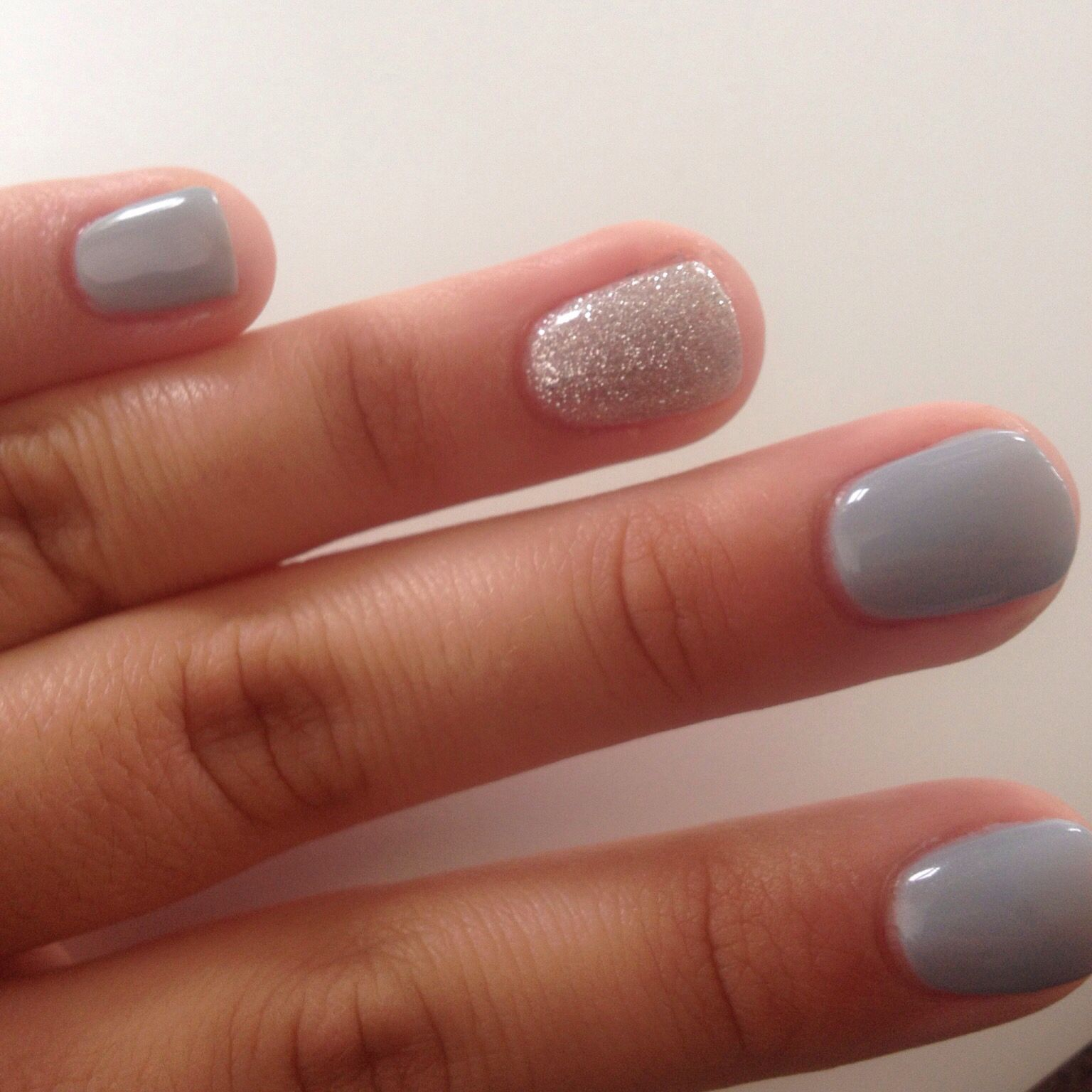 Prom nails, 2015, manicure, blue, grey, silver, glitter, gel nails ...
