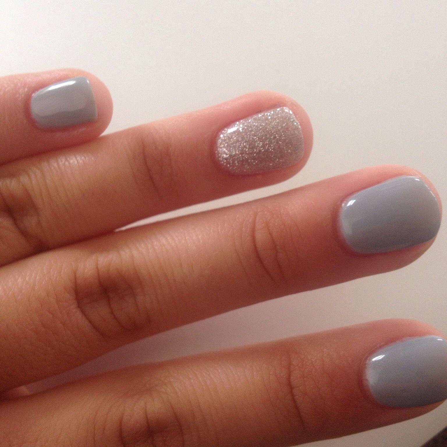 Prom nails, 2015, manicure, blue, grey, silver, glitter, gel nails ...