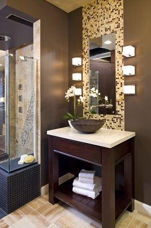 Glass tile displayed behind a mirror at Ispiri\u0027s Inspired Design