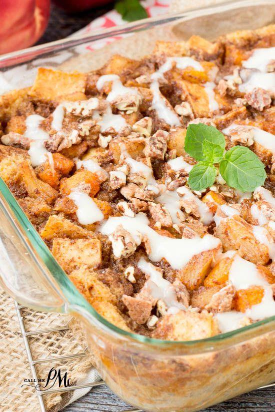 Amazingly Delicious Easy Peach Cobbler Bread Pudding Combines 2 Popular Dessert Recipes It S Full