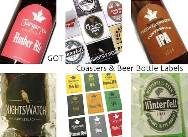 game of thrones beer coasters house tully game of thrones coasters and beer bottle labels