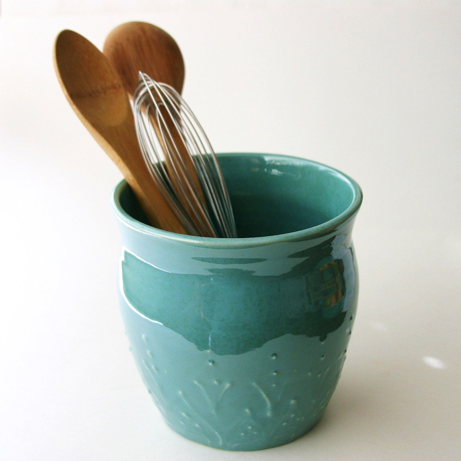 Extra Large Kitchen Utensil Holder - 16 Colors - Green, Blue, White ...
