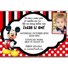 1 Year Old Mickey Party