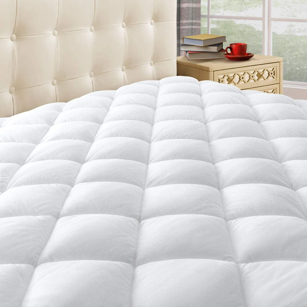 Taupiri Queen Quilted Mattress Pad Cover With Deep Pocket Deals Furniturev Com Mattress Pad Pillow Top Mattress Mattress Pad Cover
