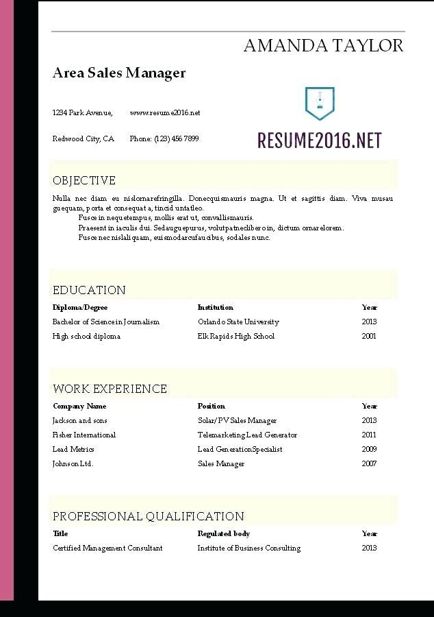 Download Resume Free Free Theme One Page Design Word