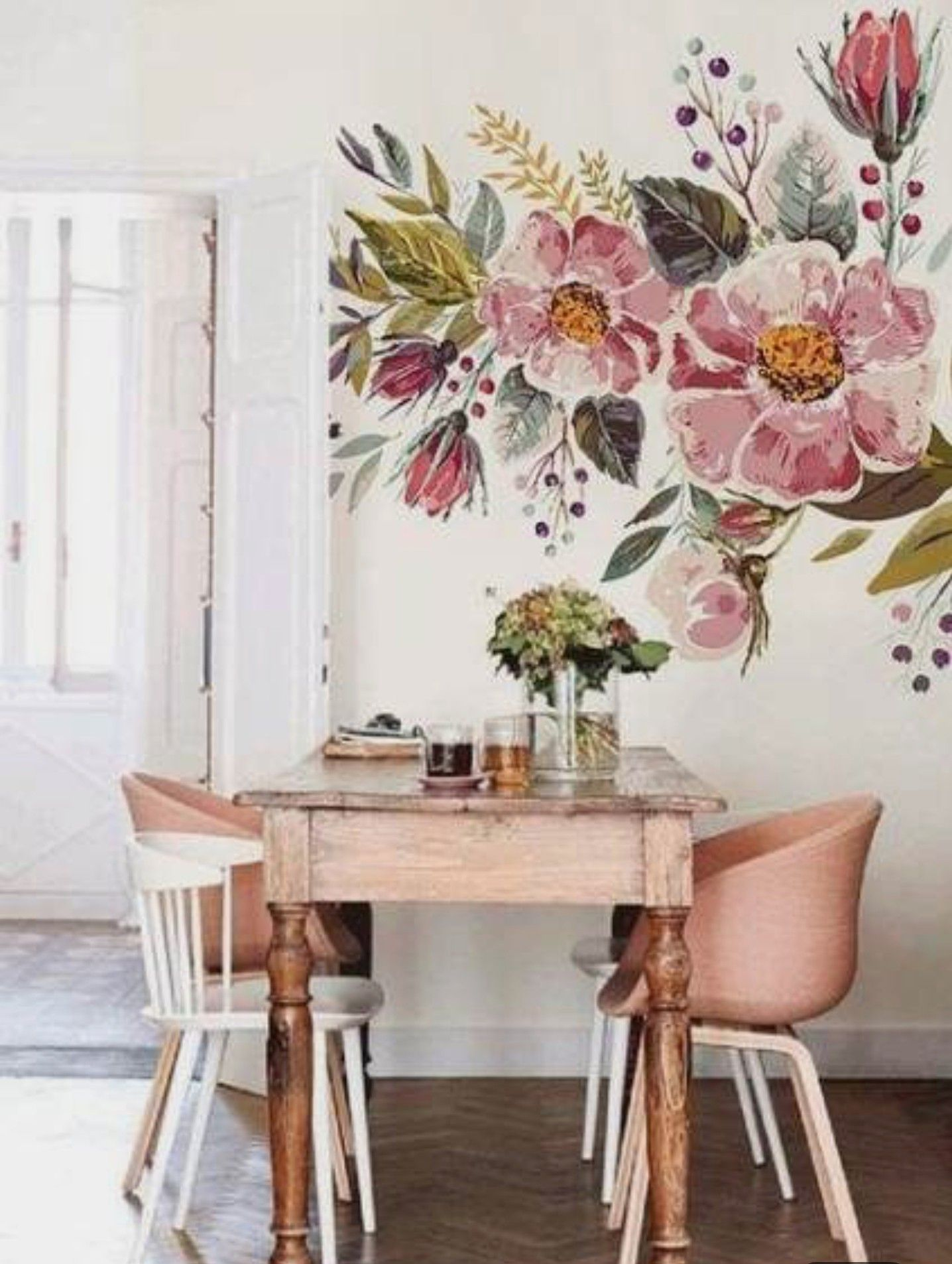 Pin by Wendy Barnoski on For the Home Floral wallpaper
