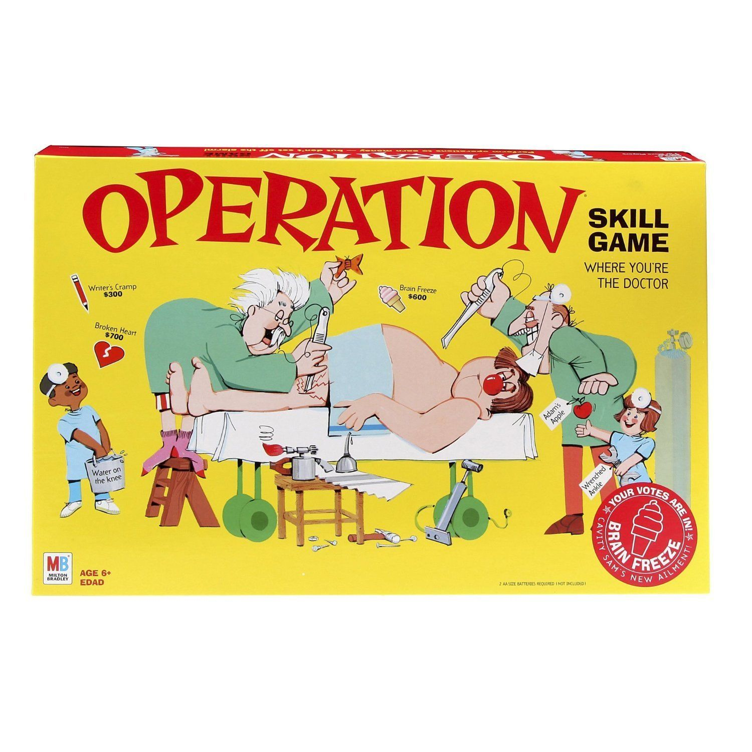 Operation Game Classic Version By Hasbro Family Board Game New Free Shipping Best Family Board Games Operation Game Skill Games