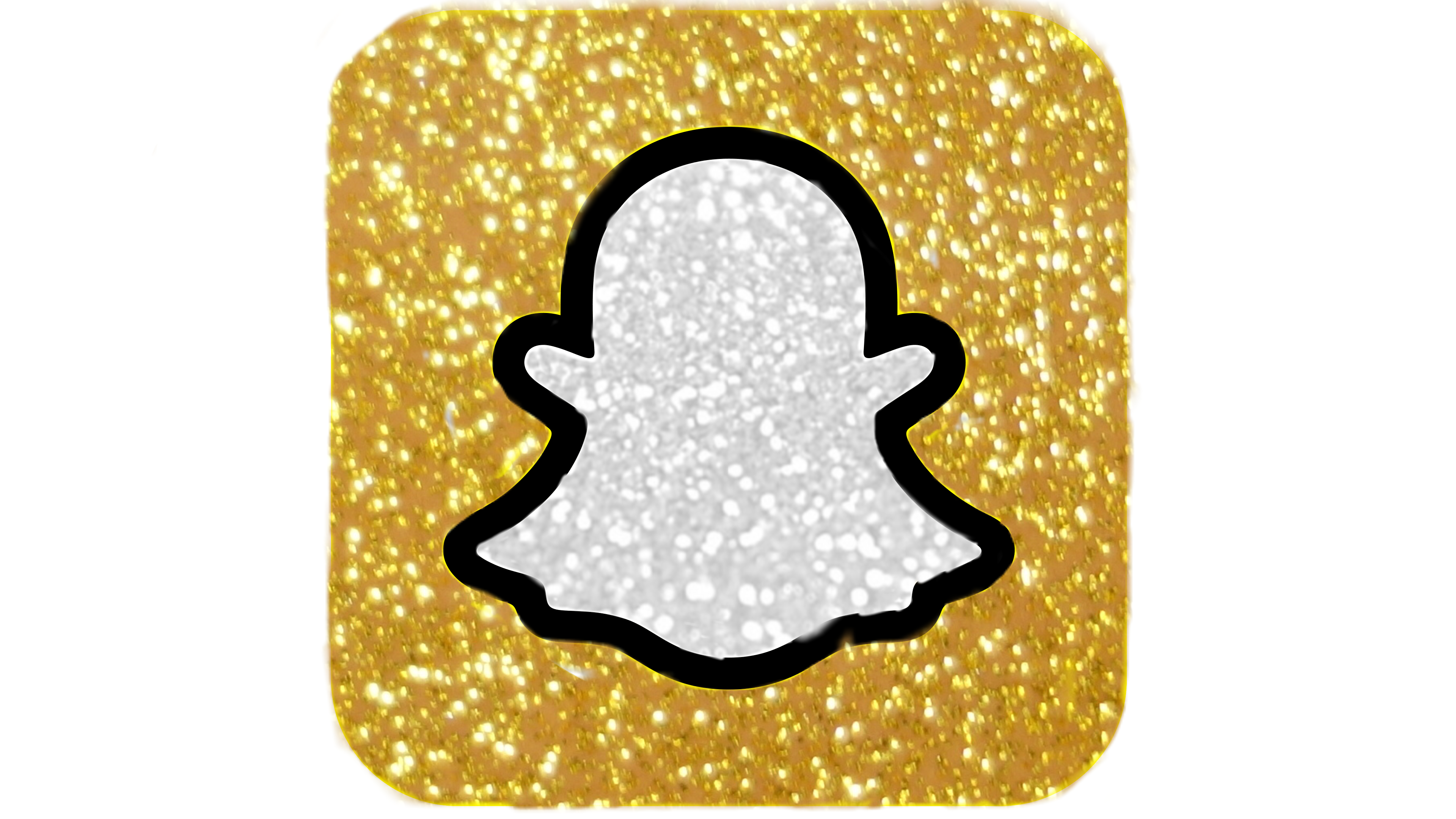 Freetoedit Snapchat Picsart Beautiful Moon Space Glittery Glitter Sparkle App Logo Ghost Gold App Snapchat Logo Snapchat Icon