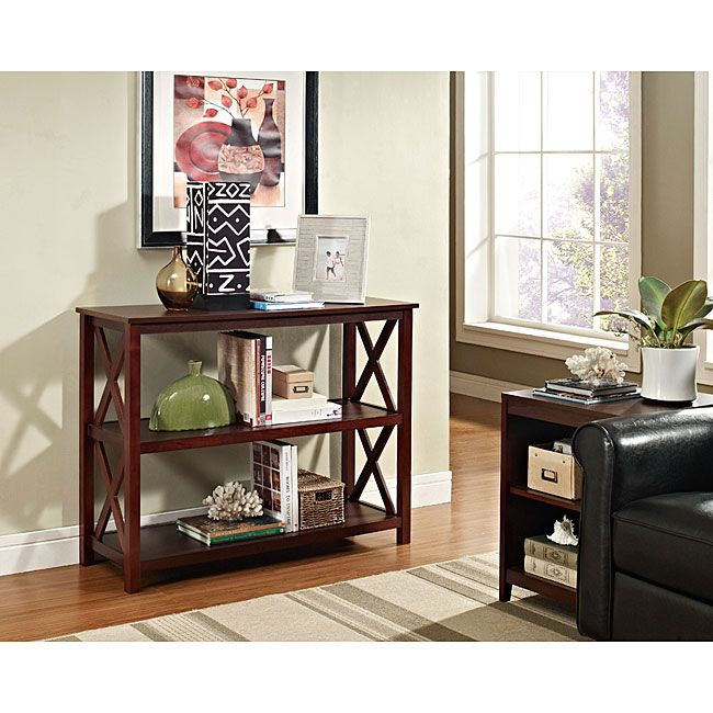 Attractive Espresso Occasional Console Sofa Table Bookshelf   Overstock™ Shopping    Great Deals On Coffee,