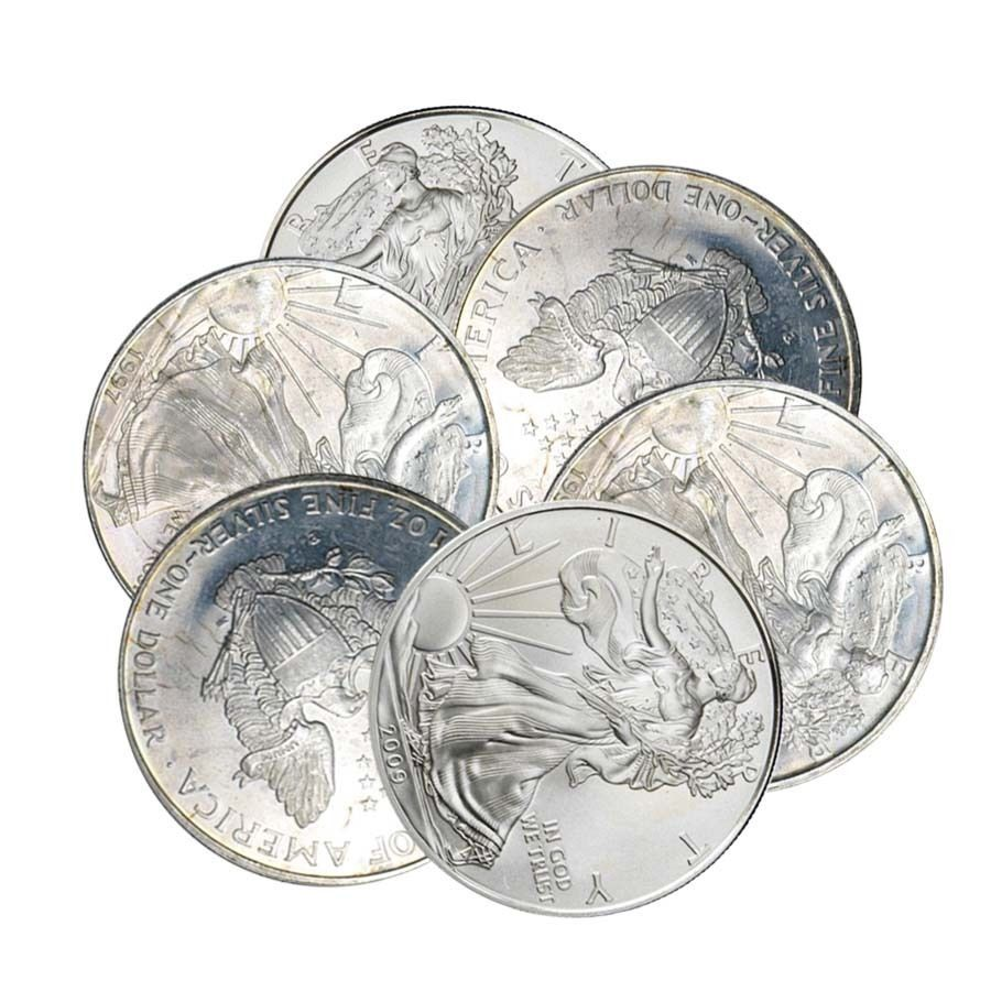 1 Oz Silver American Eagle Cull Damaged Circulated Cleaned Silver American Silver Eagle Silver Bullion