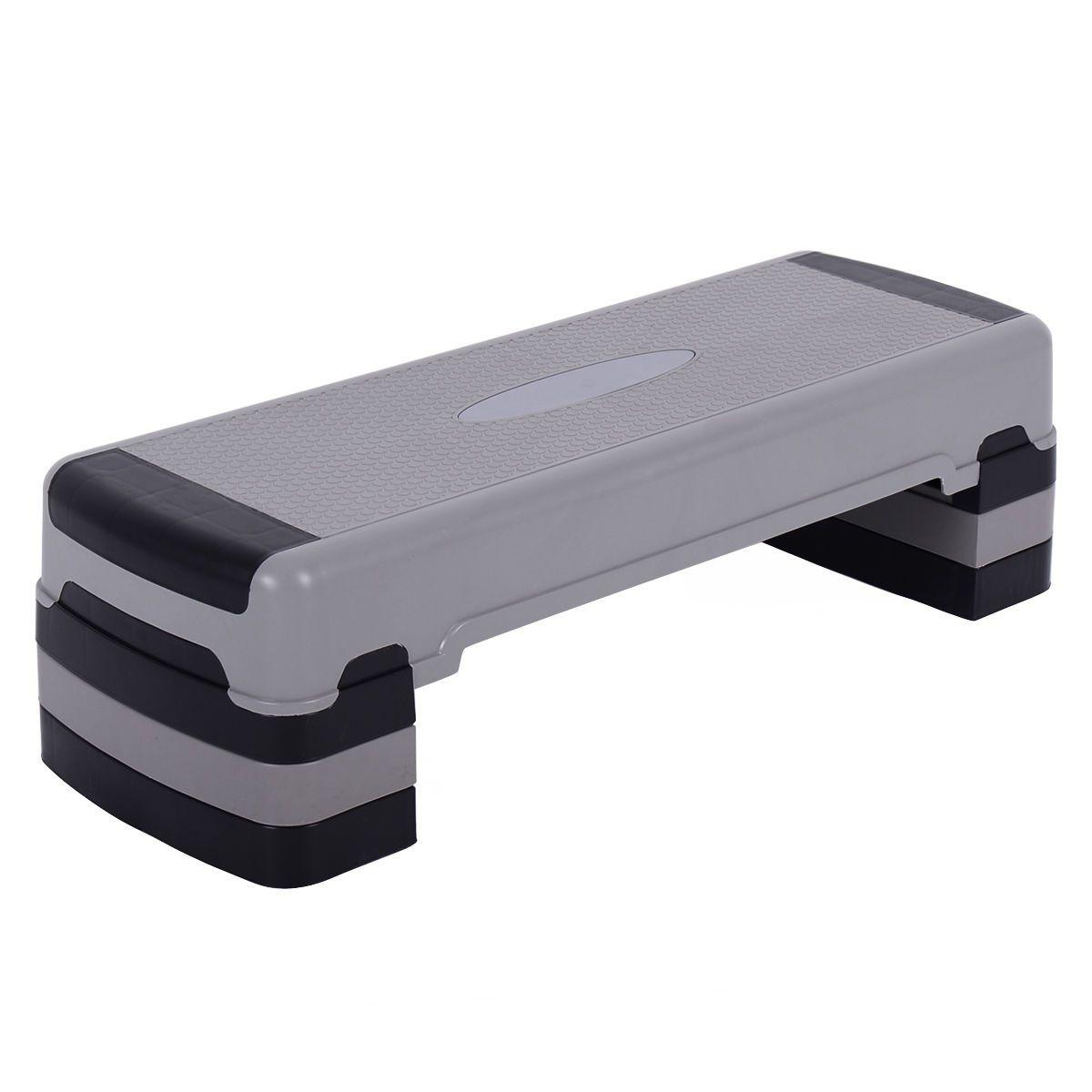 35 Fitness Aerobic Step Cardio Adjustable 6 8 10 Exercise Stepper W Risers Aerobic Exercise Aerobics Aerobic Steps