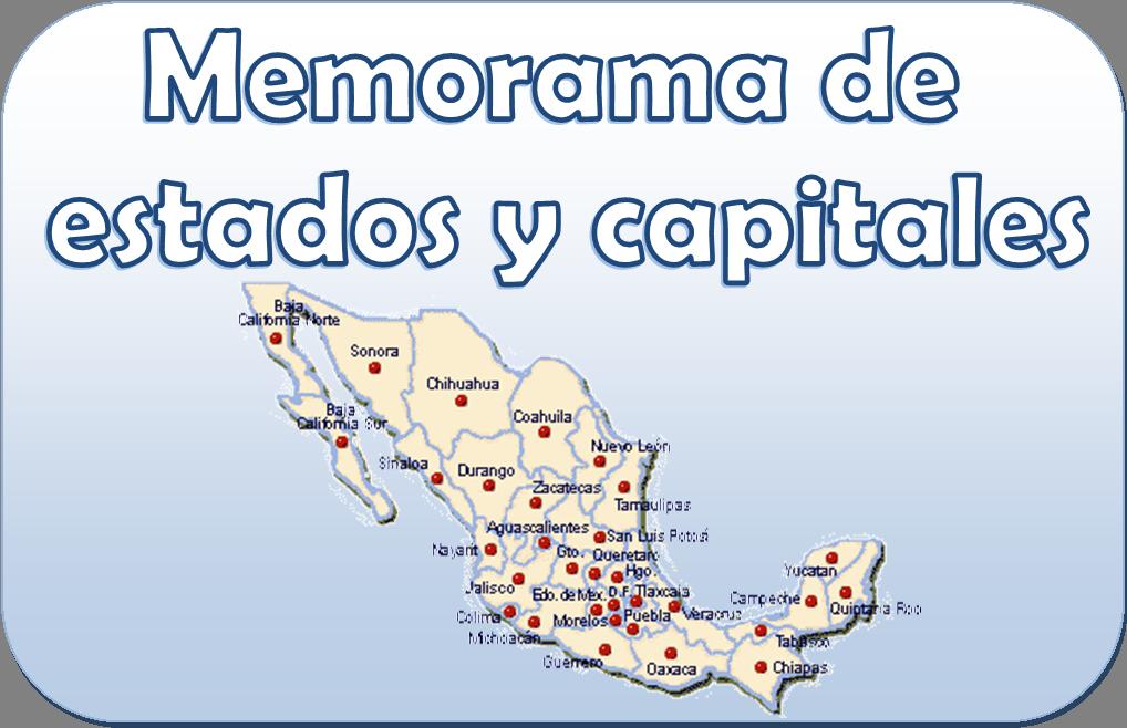 Memorama de Estados y capitales | Primaria | Pinterest