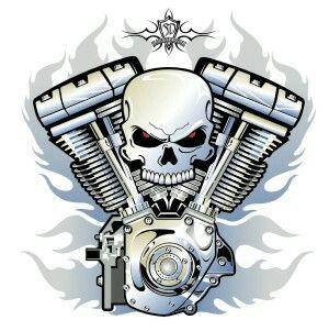 V-twin motorcycle tat | Engine tattoo, Harley tattoos ...