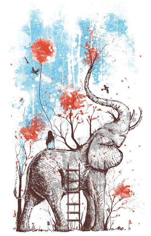 A Happy Place Art Print By Norman Duenas Society6 Arte De Elefante Produccion Artistica Arte De Mascotas