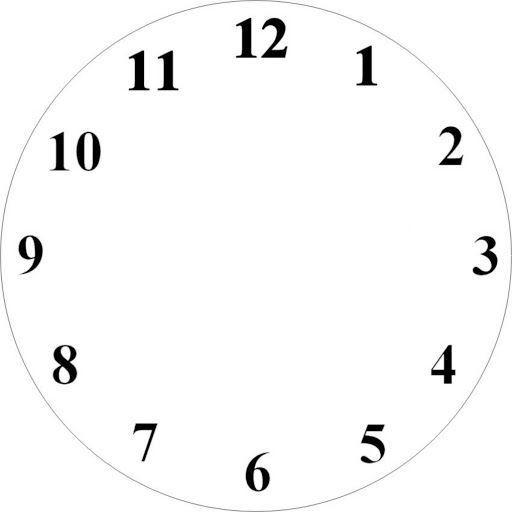 Recursos Para La Escuela Pintar Dibujos Clock Face Printable Clock Template Clock Face