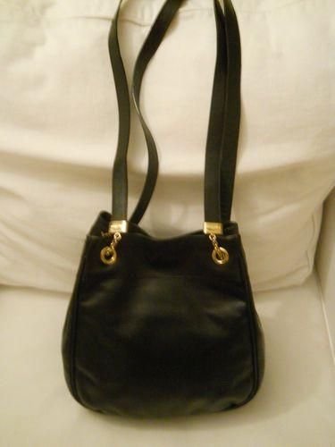 BOTTEGA VENETA Blk Texture Grain Embossed Leather Hobo Purse Bag   eBay
